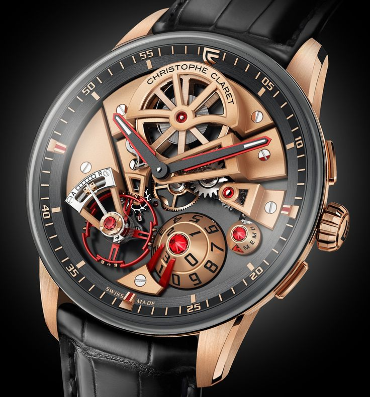 Christophe Claret Maestro Watch - by Kenny Yeo - More on this vibrant piece with a seven-day power reserve at aBlogtoWatch.com