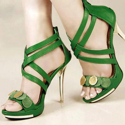 green high heels <3!