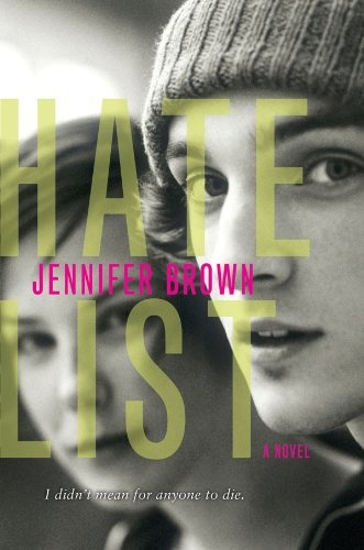 Hate List by Jennifer Brown. I certainly didn't intend to be reading a book about a school shooting while watching the news about the horrible CT tragedy, but I was. This is told from the perspective of the shooter's girlfriend. It is a really good read.