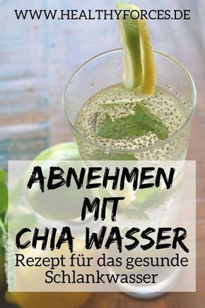 Chia Wasser mit Zitrone enthält nicht nur richtig viele Vitalstoffe. Es macht l… – Abnehmen