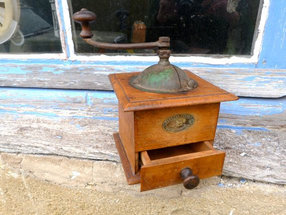 Antique 1900 French coffee grinder Peugeot by petitbrocante, $55.00