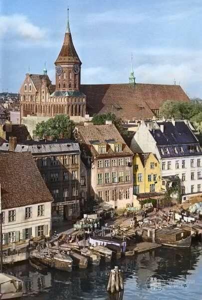 Königsberg Pr. Blick vom Pregel auf den Dom