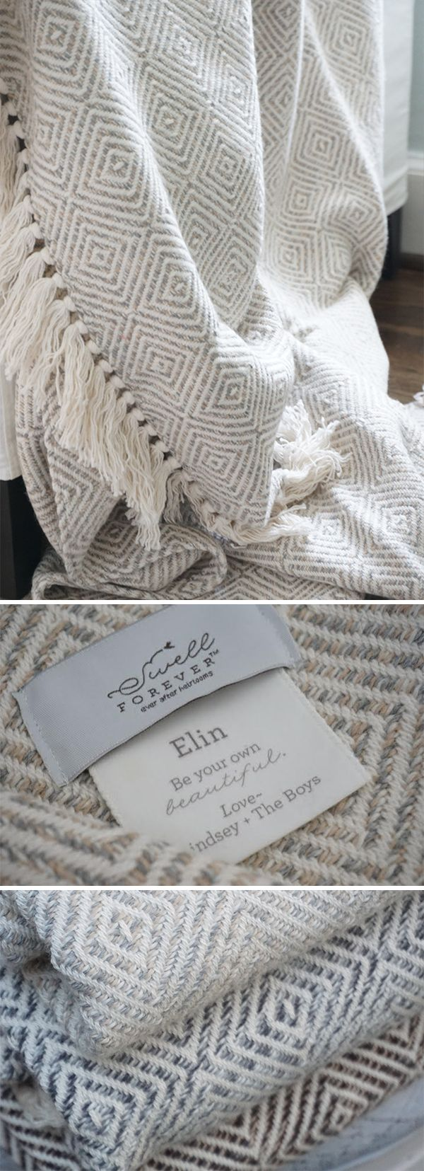 The Alpaca Forever Blanket {throw} Collection from Swell Forever. American Made with unique personalized message tags. Comes in 5 colorways. Diamond pattern throws perfect for wedding, bridesmaid, mother of the groom, mother of the bride, inlaw, housewarming, corporate, birthday, best friend gifting. Your gift supports adoption. Valentine and mother's day gift ideas.