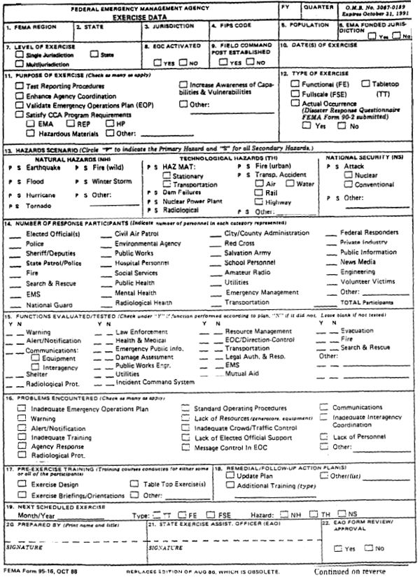 emergency evaluation form exercise fitness programs
