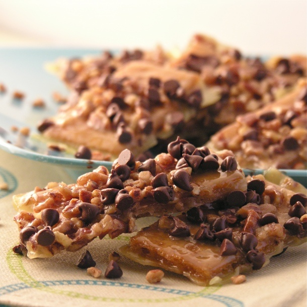 Toffee pecan crunch barsToffee Bar, Crunches Bar, Easy Recipe, Pecans Bar, Chocolates Chips, S'Mores Bar, Graham Crackers, Toffee Pecans, Pecans Crunches