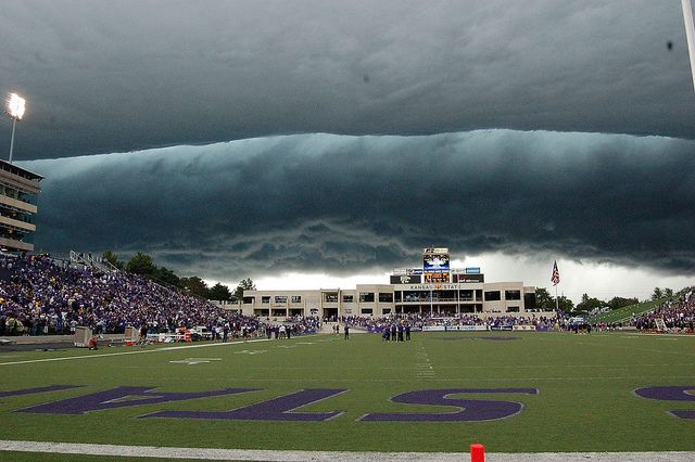 Wall cloud - we were there that day at Kansas State University!  Scarey but awesome!