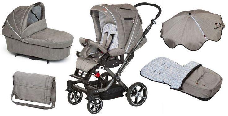 Rundum versorgt mit dem Hartan Topline S Kinderwagen und die passende Tragetasche, Wickeltasche, Fußsack und Sonnenschirm