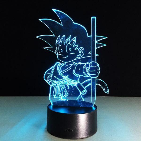 Kid Goku 3d Led 7 Colors Lamp Kid Goku Goku And Dragon Ball
