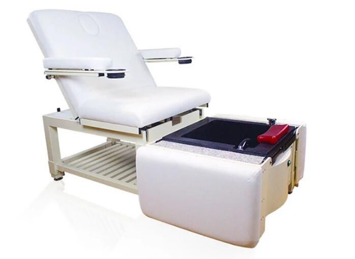 Folded Manicure Pedicure Chairs Foot Spa Massage Station Salon Bed With Bowls Beauty Spa Equipment Hair Salon Furnitur Spa Massage Spa Pedicure Chairs Pedicure