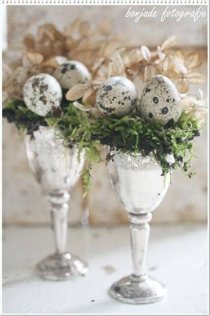 Glam Easter decor