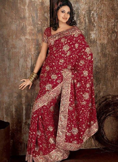 Latest Designs Of Indian Bridal Sarees 2014 For Women  #IndianBridalSarees2014 #LatestDesignsOfSarees #IndianSarees2014