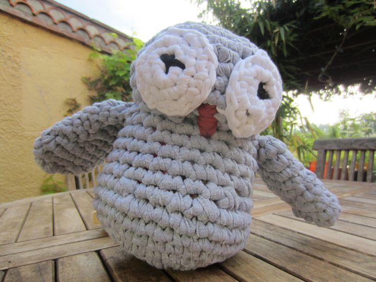 Maxigurumi, Chouette au crochet, Owl, Trapilho, fettuccia, zpagetti