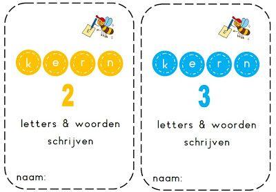 Juf Shanna: Kern 2&3 (VLL) - Schrijven van de woorden