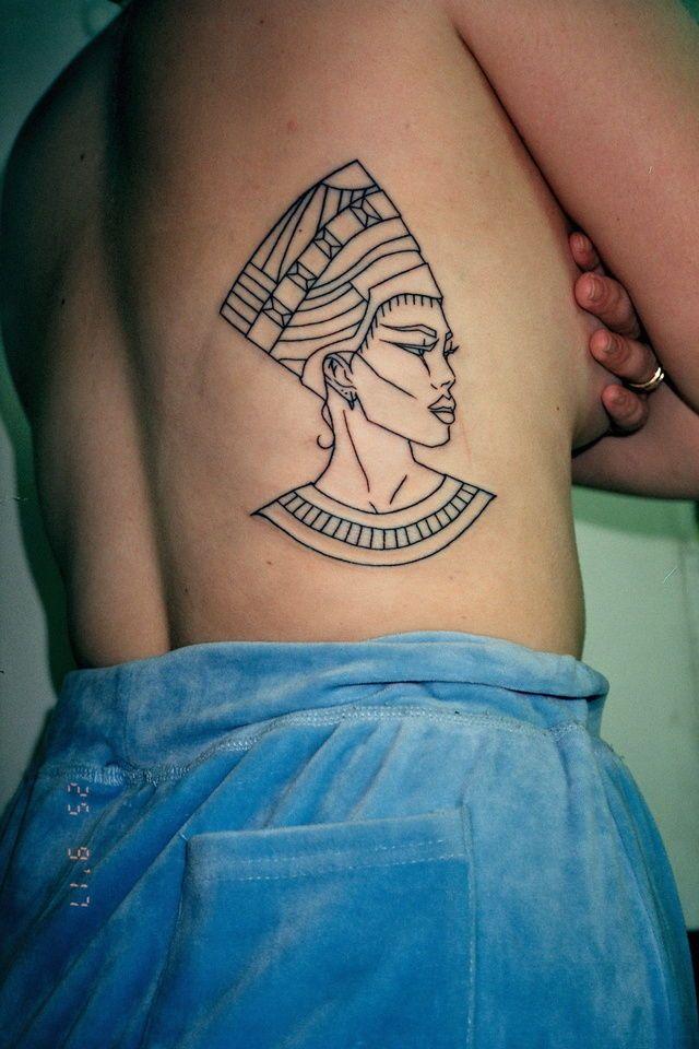 Cleopatra Line Tattoo