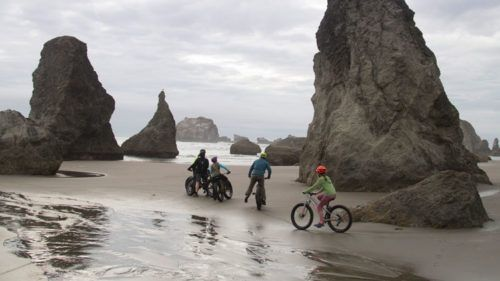 Around 7 miles south of the Wild and Scenic Rogue River in Gold Beach lies Cape Sebastian State Park. Depending on the wind direction, this spectacular site starts or ends your beach ride in one of the most photogenic sections of the Oregon Coast.