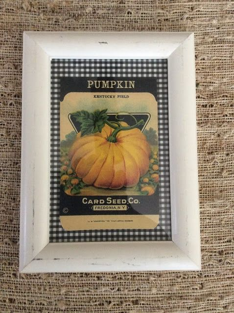 Fresh Vintage by Lisa S Printable Vintage Pumpkin Seed Packet