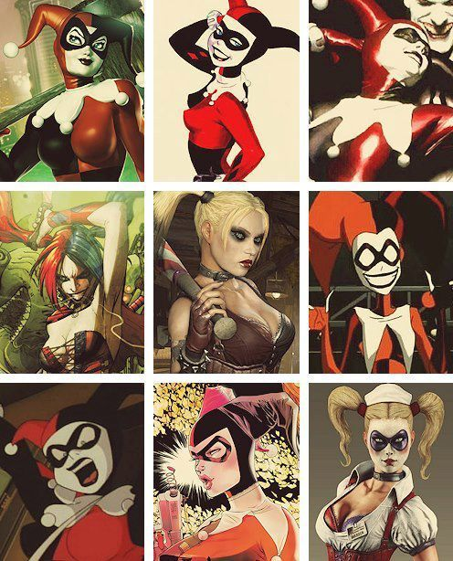 The many fabulous costumes of Harley Quinn! Gotham Premieres tonight on Fox TV! Take a look at Gotham's city's notorious heroes and villains and the costumes that made them famous!