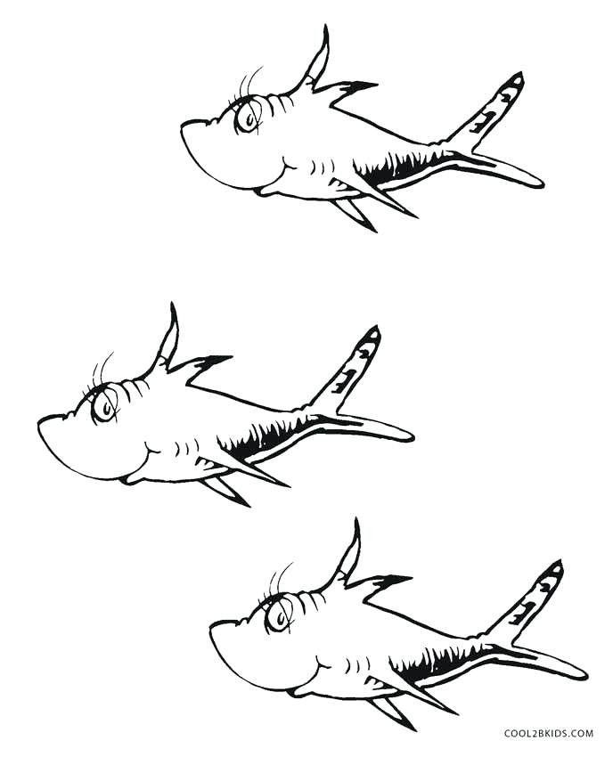 Dr Seuss Fish Template DrSuess Dr seuss coloring pages