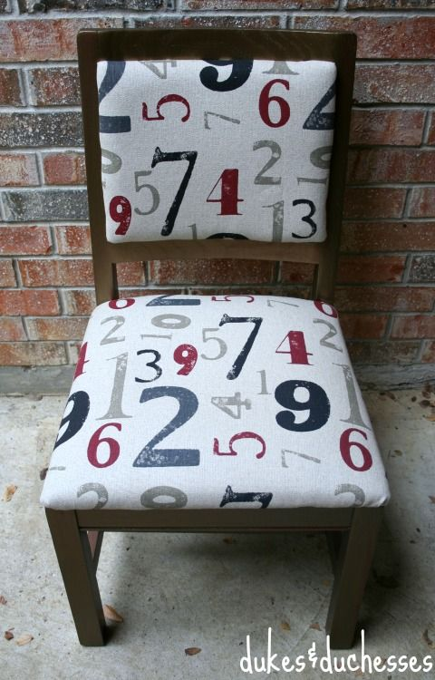 Modern Masters Blackened Bronze Metallic Paint on a chair | By Dukes & Duchesses: Painted Furniture, Furniture Makeover, Painted Chairs, Metallic Painted, Painted Repurposed Furniture, Number, Fabric, Masters Metallic