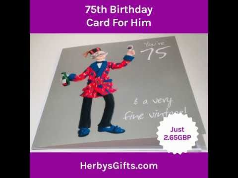 75th Birthday Card For Him A Fabulous Happy Cardfor Boy From Holy Mackerel Features Age 75 Manmeasures 6 X Inches 265