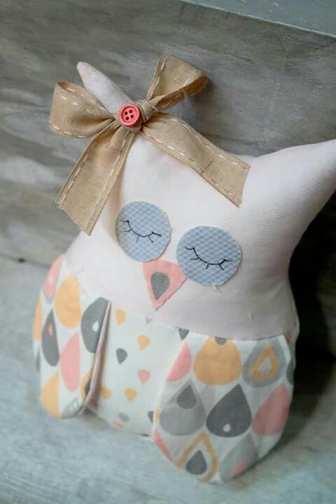 Fabric owl cute