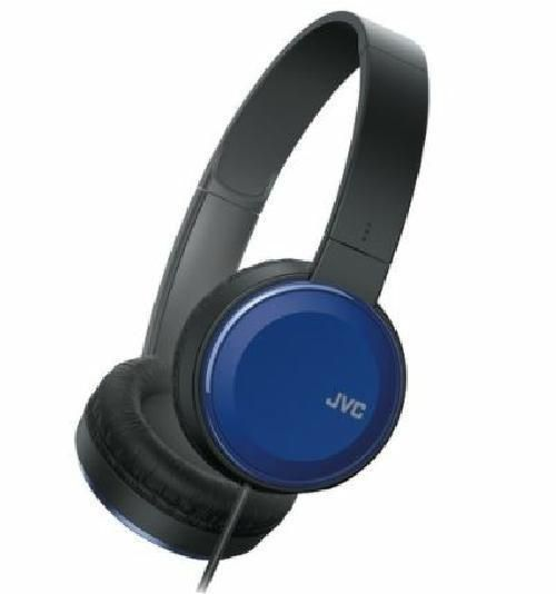 JVC Colorful Sound Blue Stereo Headphones with Remote and Mic for Smartphone #JVC #StereoOvertheHeadHeadbandHeadphones