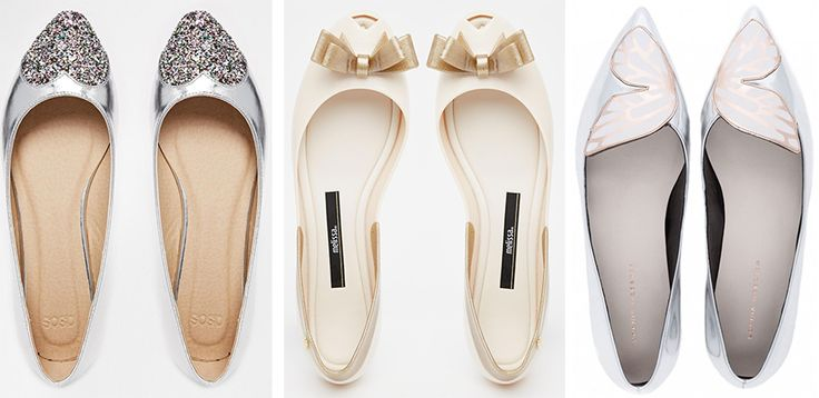 Bridesmaids in flats, or dancing shoes for evening