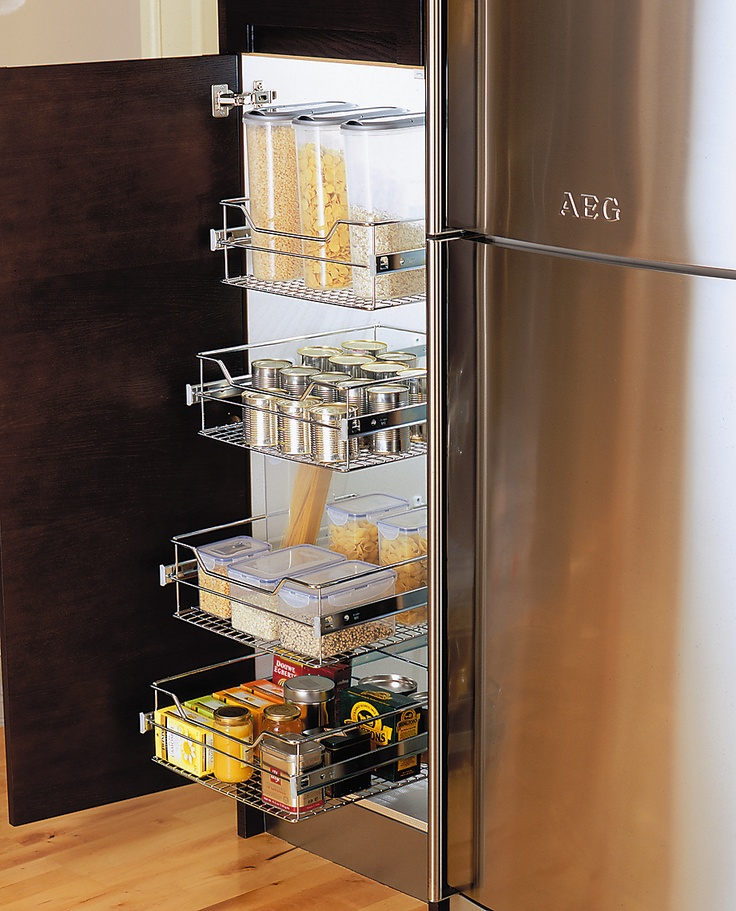 Fully Extendable Wire Basket larder Unit  #storage #solutions