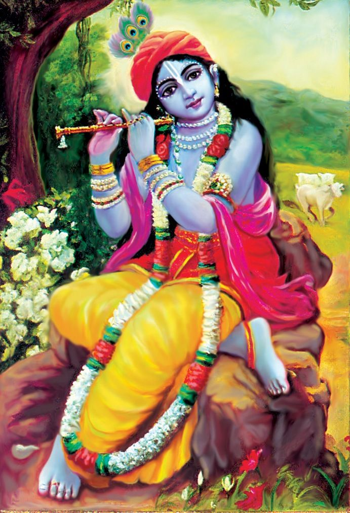 Latest Famous Krishna with flute Wallpapers for free download