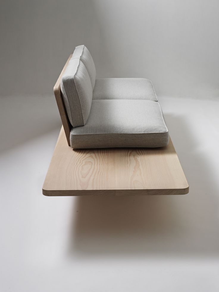 Plank Sofa is a minimalist design created by Norwegian-based designers KnudsenBergHindenes. The sofa is easily assembled, and can be flat-packed for efficient delivery and transportation. The framework is constructed from massive floorboards taken from Dinesen Douglas spruce trees. (2)
