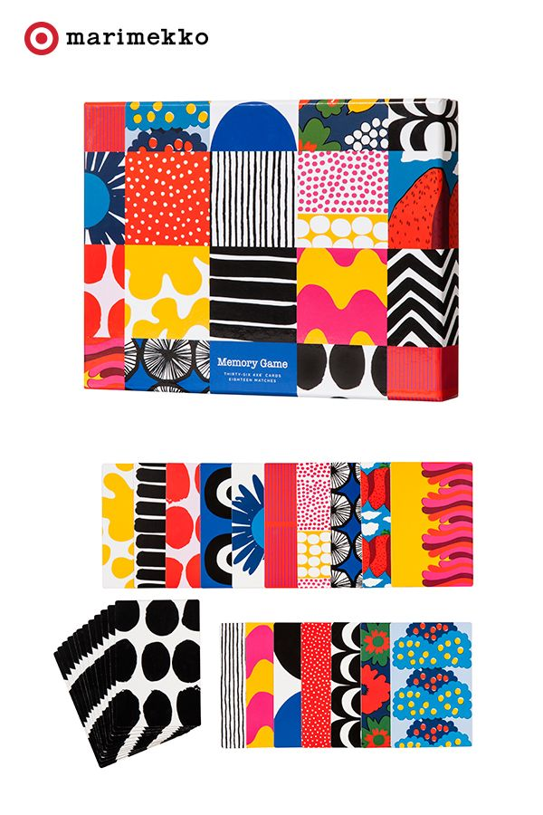Play and learn with the most beautiful prints using this Memory Card Game from the Marimekko for Target collection. Not only will this build memory strength but also introduce bright and poppy hues for an extra bit of happy. These playful pieces of artwork are just fun to look at and tease the imagination. Play on starting April 17th. Click to peruse the entire collection lookbook featuring fashion, home, outdoor and more.