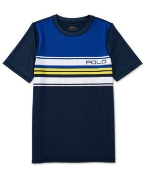 Ralph Lauren Stretch Jersey Crew-Neck Shirt, Big Boys (8-20) - Summer Navy XL
