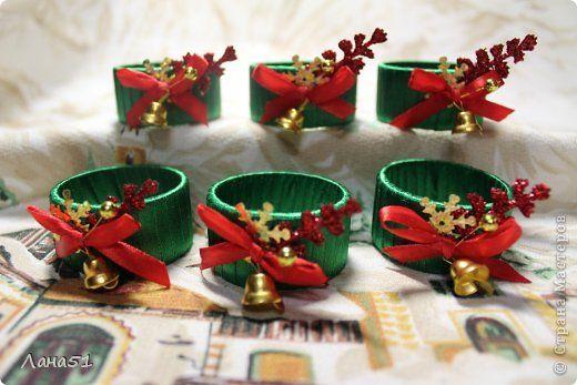 Декор предметов Новый год Кольца для салфеток на новогодний стол фото 5