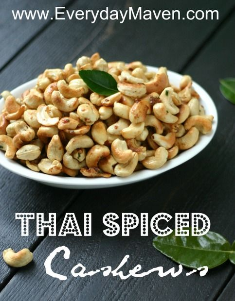 A fun and delicious twist on cashews. Spiced with Kaffir Lime, Crushed Red Pepper Flakes, a touch of Palm Sugar and Coconut Oil - perfect for a dinner party!