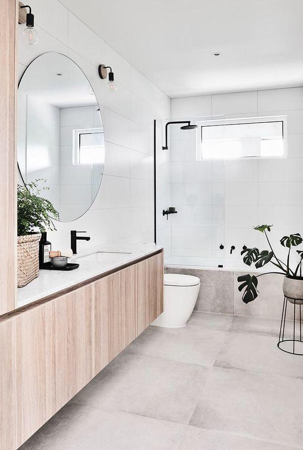 Large 60x60 Tiles On Floor Plain White Rectangular On Walls For Kids Room Shower Over Bath Bathr Bathroom Interior Design Shower Over Bath Bathroom Interior
