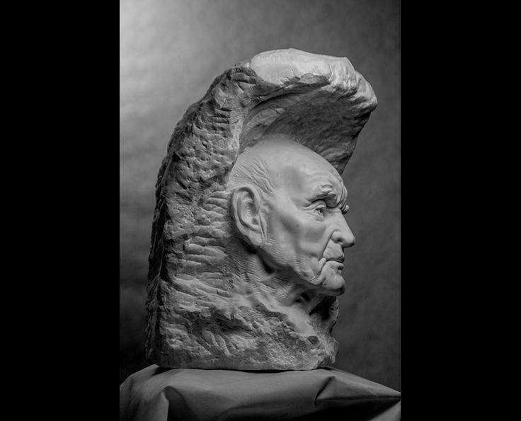 Michal Jackowski, PASSING. 44 x 53 x 65 cm, Carrara white marble, 2016  #sculptures #humans #antique #pinart #creative #passion #love #art #classic #people