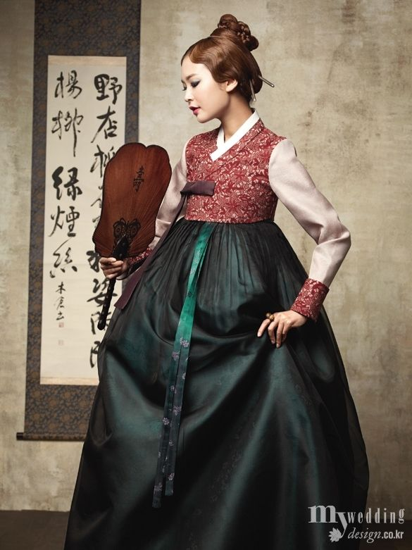 Hanbok, Korean.  My wedding_ 비단빔 한복 고혹 적인 색채로 물들다