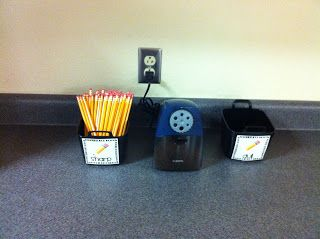 "Spectacular 2nd Grade: Classroom Setup: I WILL have a ""Sharp"" and ""Dull"" pencil bin... NO during the day pencil sharpening!!!!"