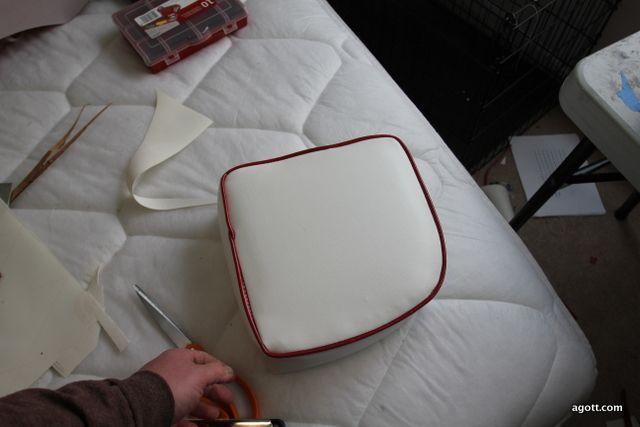 Making new boat seat cushions