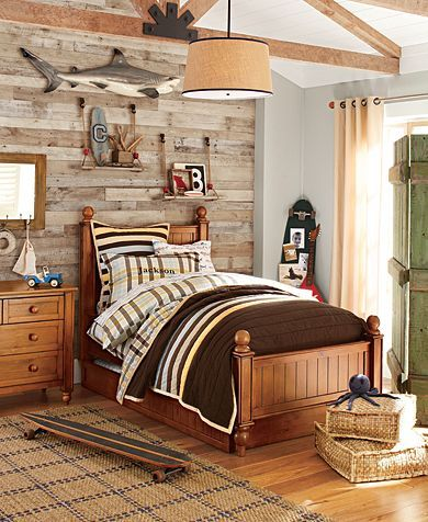 the wall the neutrals the soft blue the - Rustic Teen Room Decor