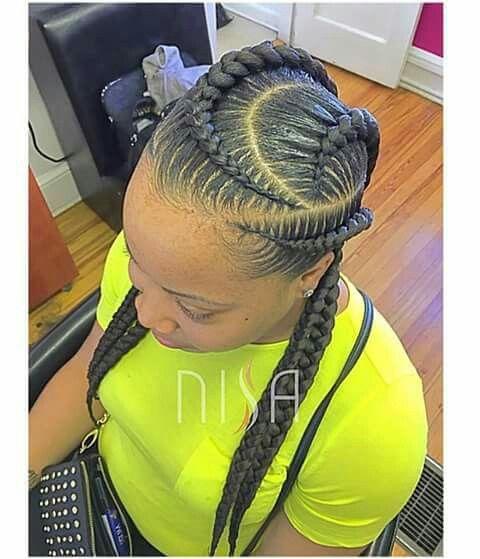 Ghana braids .... laid