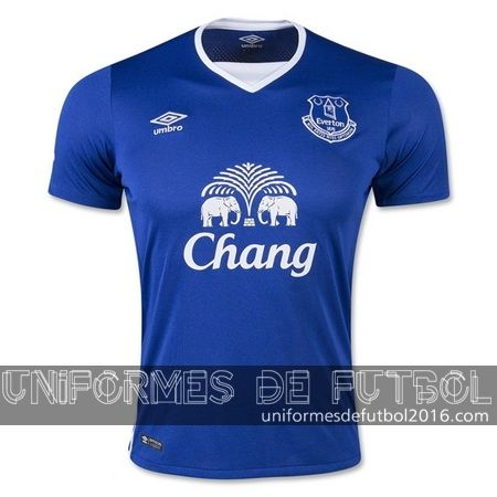 Venta de Jersey local para uniforme del Tailandia Everton 2015-16