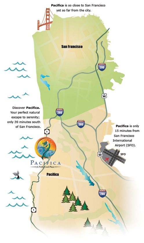 Visit Pacifica, California. Only 15 minutes south of San Francisco.