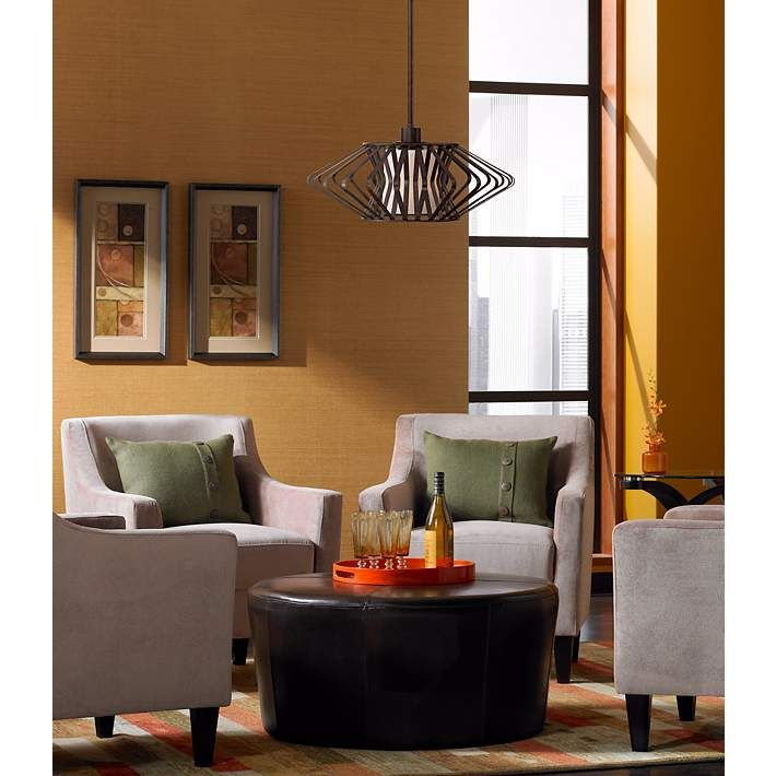 "Possini Euro Design Zodiac 20"" Wide Bronze Pendant Light"