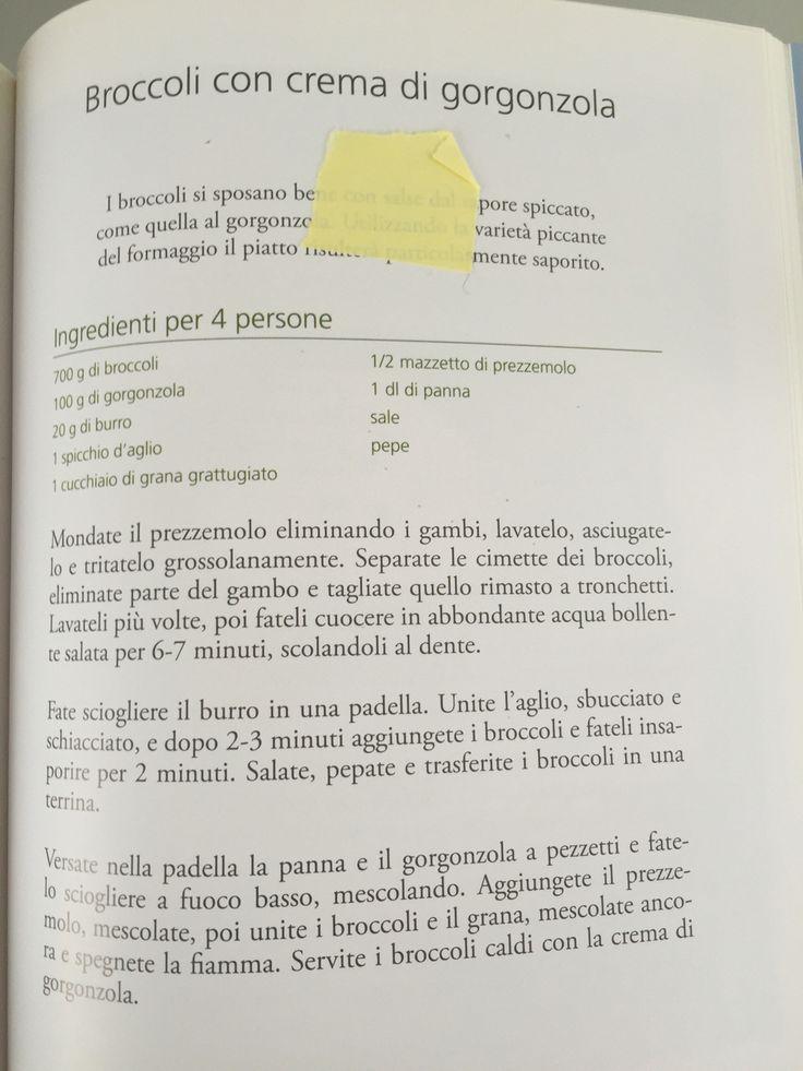 Broccoli con crema di gorgonzola