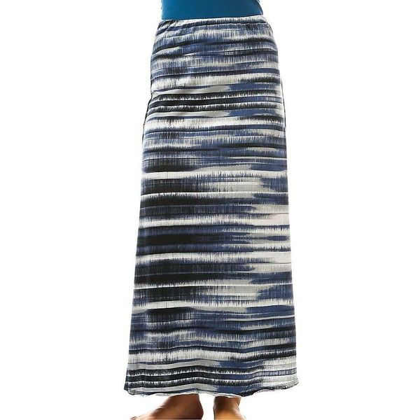 Prana Women's Kendra Skirt ($49) ❤ liked on Polyvore featuring skirts, gravel, floor length skirt, wide waistband skirt, jersey knit skirt, prana and maxi skirts