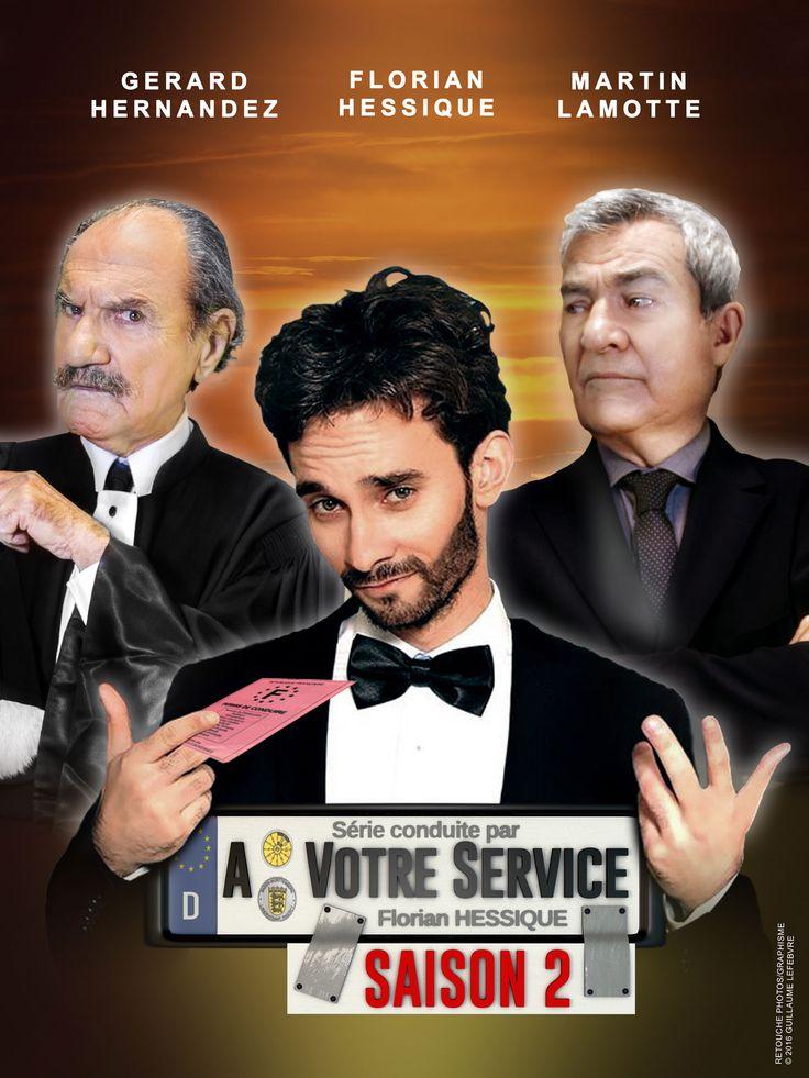 Retrouvez Florian Hessique, Martin Lamotte, Gérard Hernandez et le reste du casting de la série A votre service en DVD (sortie le 01/03/2016)