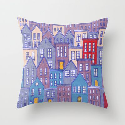 Pretty City II Throw Pillow by Amy-Jean Prentice - $20.00