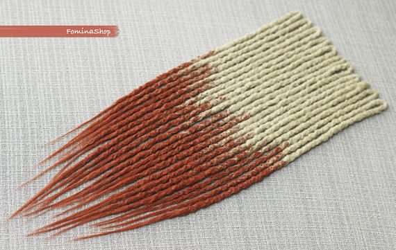 Synthetic double ended dreads. Accent set of 11