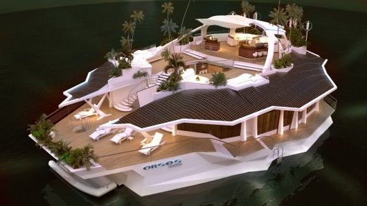 Did you always dream about a private island?   Orsos Island is 20 meters wide and 37 meters long, with 1,000 m² of living space availabl...Floating Islands, Living Spaces, Seats Area, Solar Panels, Luxury Yachts, Orso Islands, Boats, Private Islands, Islands Living